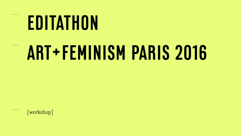 Conversation à l'occasion de l'Editathon Art+Feminism - AWARE Artistes femmes / women artists