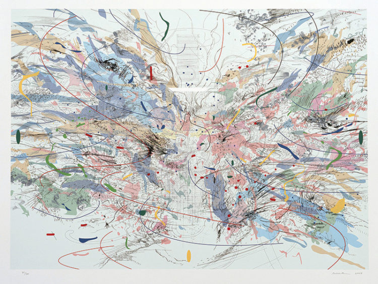 Excavations: The Prints of Julie Mehretu - AWARE