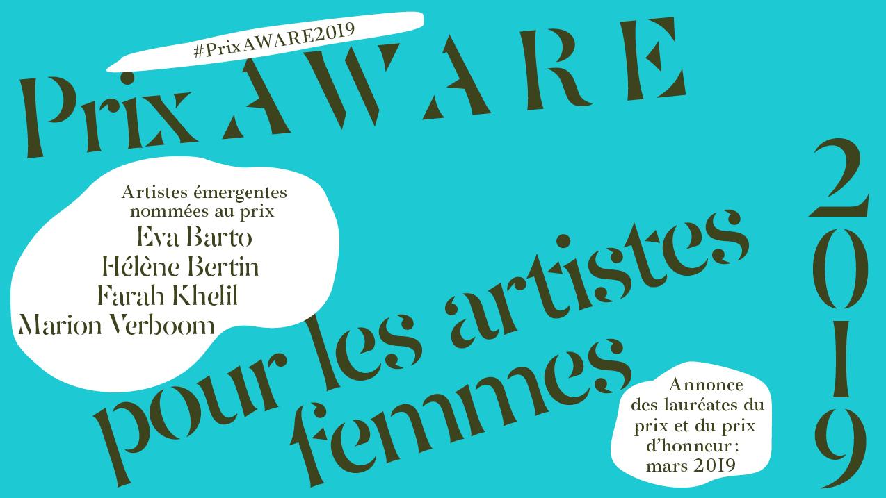 2019 - AWARE Artistes femmes / women artists